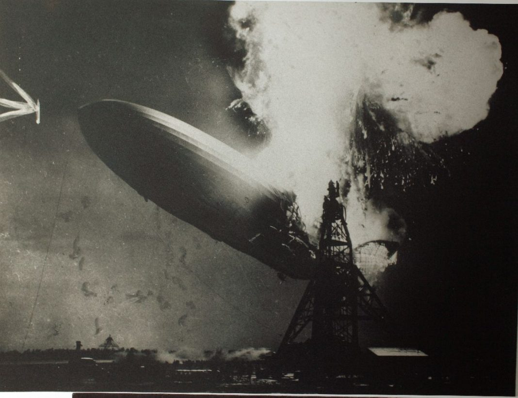 Hindenburg Crash, May 6, 1937. San Diego Air & Space Museum Archives