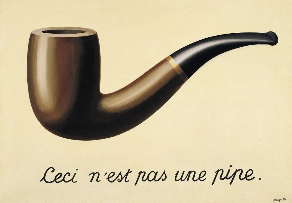 La Trahison des images (Ceci nest pas une pipe), 1948, by Rene Magritte