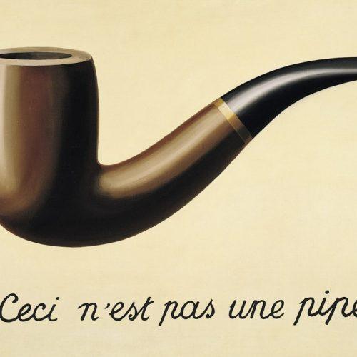 La Trahison des images (Ceci nest pas une pipe), 1948, by Rene Magritte.