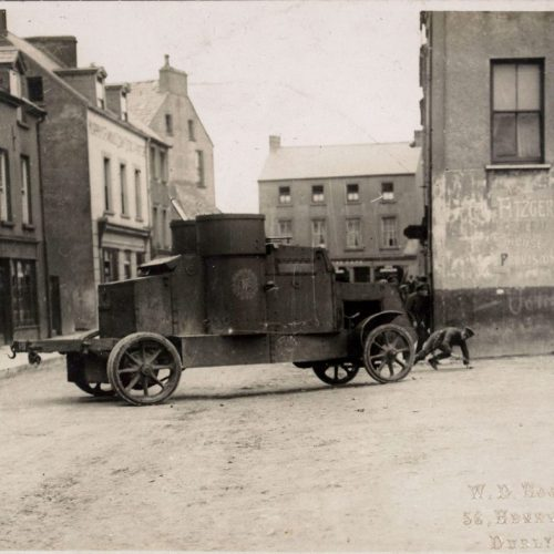 Armoured Car, Passage West, Cork. Unattributed. Sunday Independent, 13 August 1922.