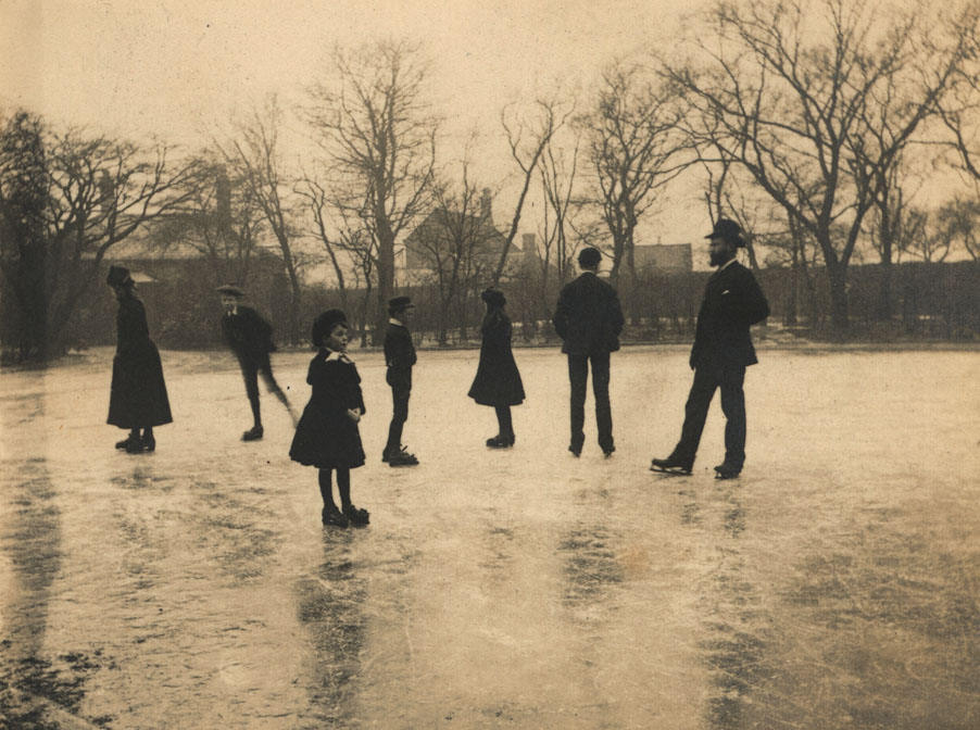 Ice Skating at Christmas, Spence Family collection, Tyne & Wear Archives.