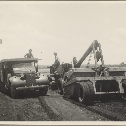 Motor Truck Servicing Tractor – Batchelor Aerodrome, Northern Territory, Ca 1941. State Archives New South Wales.