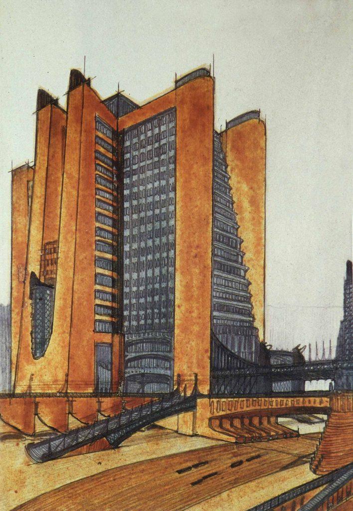 Antonio Sant'Elia. Studio per centrale elettrica.