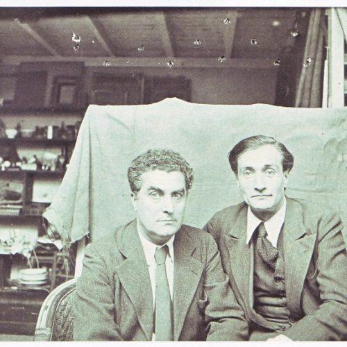 Edgard Varèse and Antonin Artaud, 1933. By Rogi André