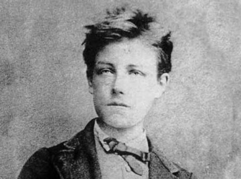 Arthur Rimbaud, aged 17, by Étienne Carjat, probably taken in December 1871.