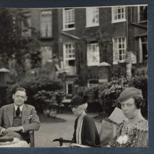 T. S. Eliot, seated with his sister and his cousin. The University of British Columbia collection. Unattributed.