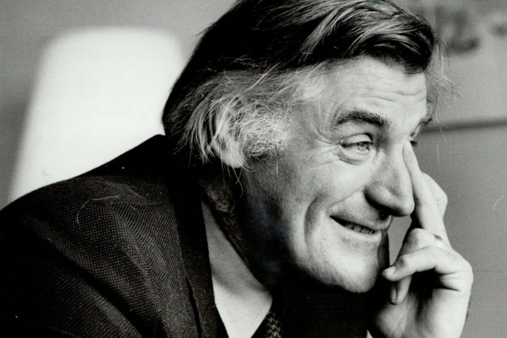 Ted Hughes. Photo by Reg Innell/Toronto Star.