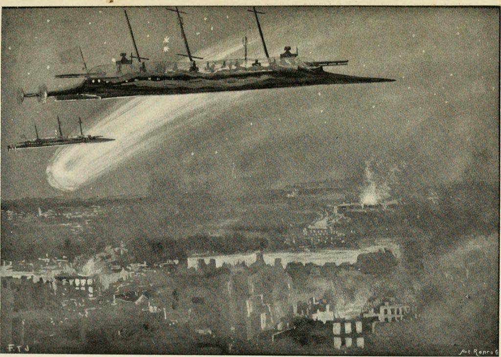 "Ilustración para ""Olga Romanoff"", por George Chetwynd Griffith. Simpkin, Marshall, Hamilton, Kent and Co. Londres 1897."