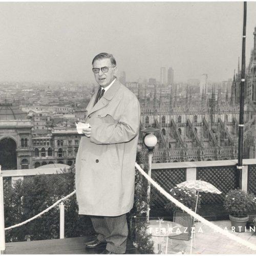 Jean-Paul Sartre, Paris. Undated, unattributed.