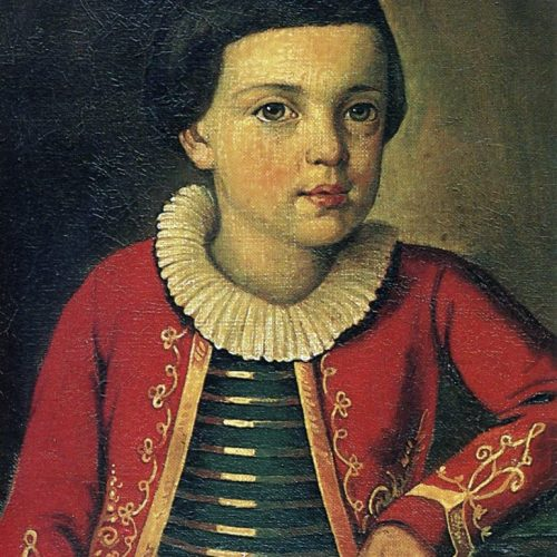Mikhail Yurievich Lermontov, Ca. 1820. Unattributed-