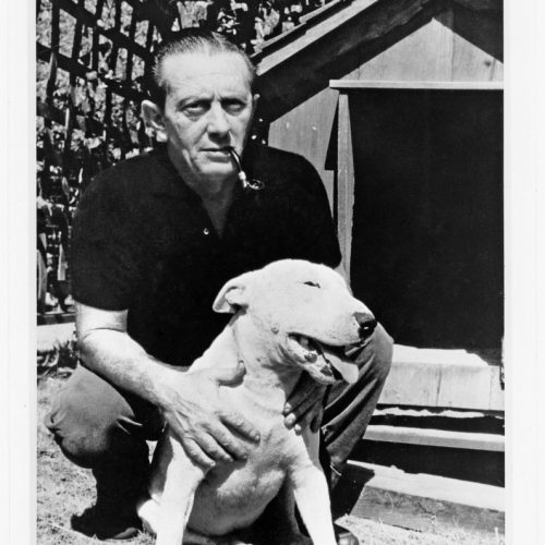 John Fante and dog, undated, unattributed.