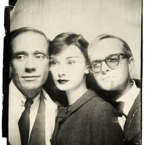 Richard-Avedon-Photomatic-Photograph-Of-Mel-Ferrer-Audrey-Hepburn-Truman-Capote-1957