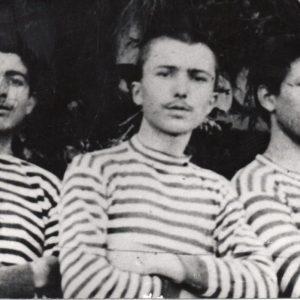 Nikos Kazantzakis with his classmates, in 1883. Unattributed.