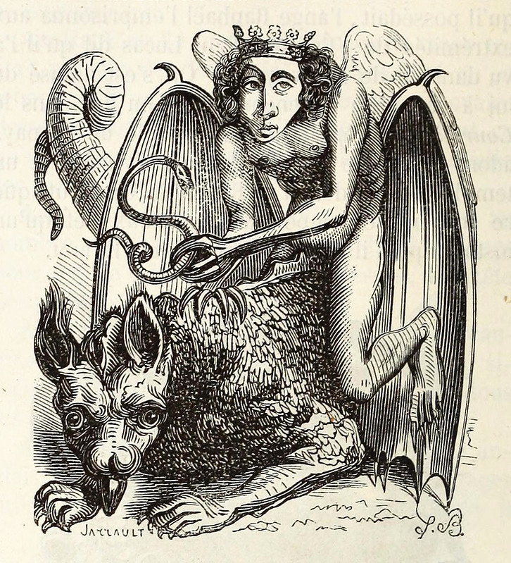 Astaroth, from the 1863 edition of Collin de Plancy's Dictionnaire infernal